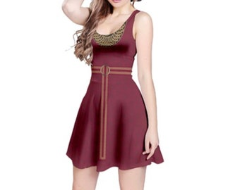 READY-to-SHIP [3XL] Mother Gothel Tangled Inspired Sleeveless Dress