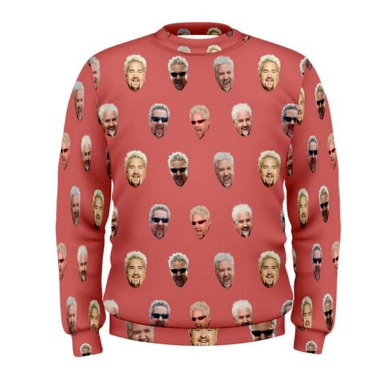 Mens Guy Fieri Crewneck Sweatshirt Etsy