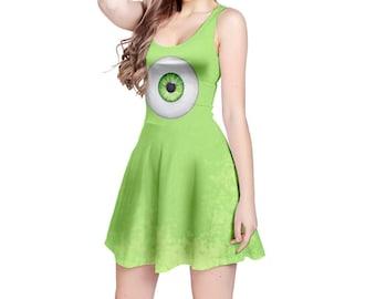 READY-to-SHIP [3XL] Mike Wazowski Monsters Inc Inspired Sleeveless Dress