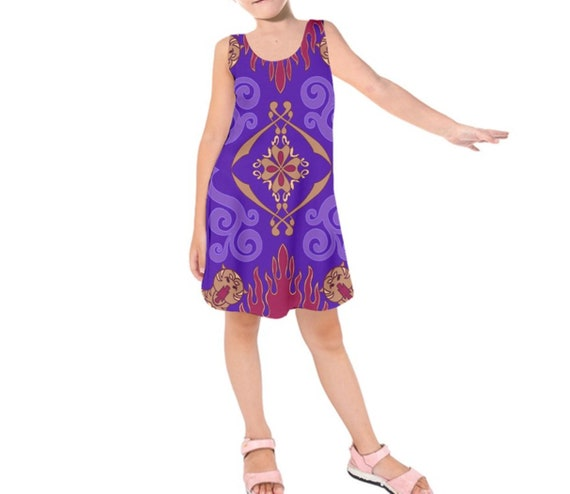 Kid/'s Magic Carpet Aladdin Inspired Long Sleeve Dress