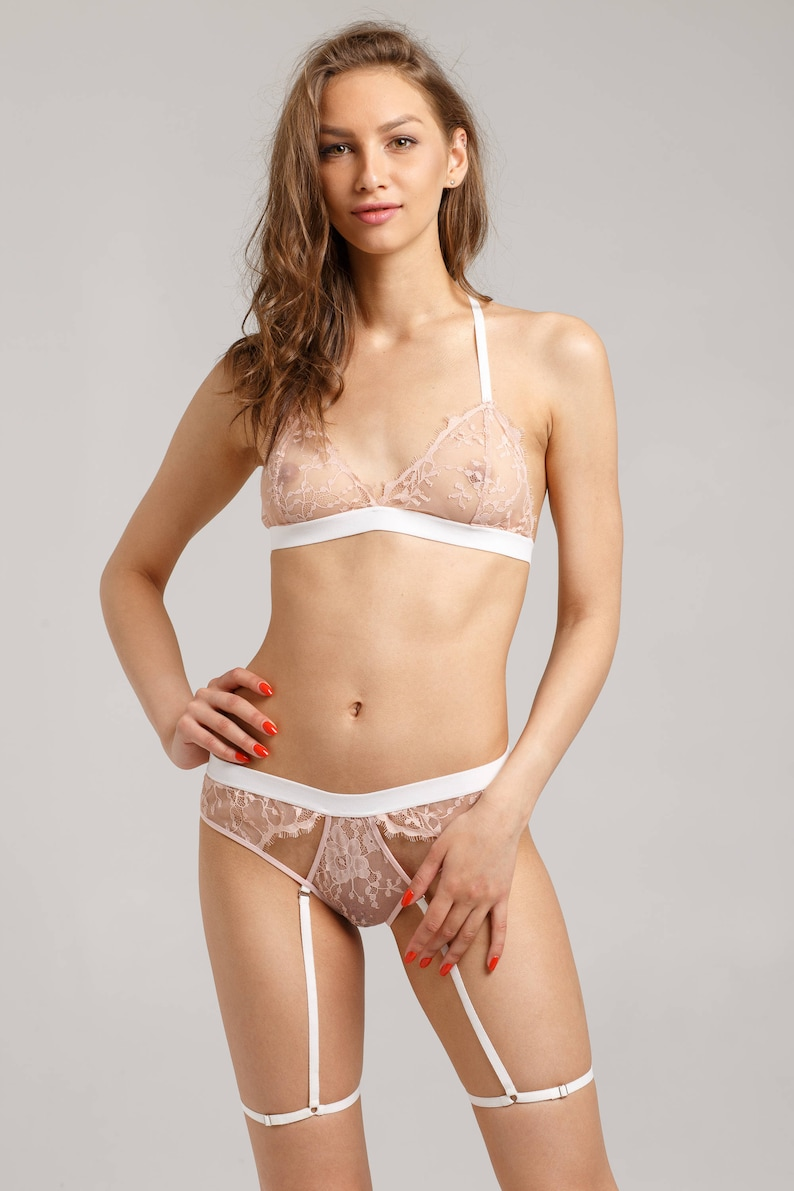 28539fc202598 Sheer lingerie set Transparent lingerie set Transparent