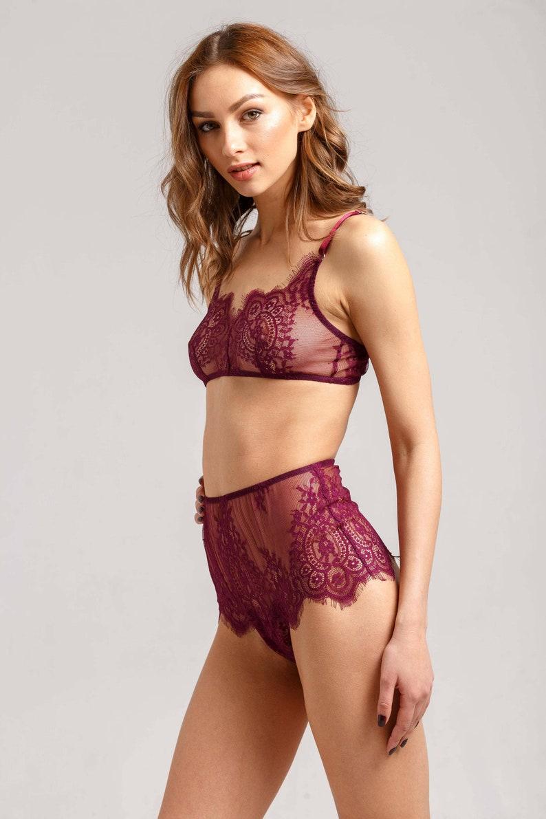 2e30505df3 Lace lingerie set Sheer lingerie Boudoir lingerie Sexy