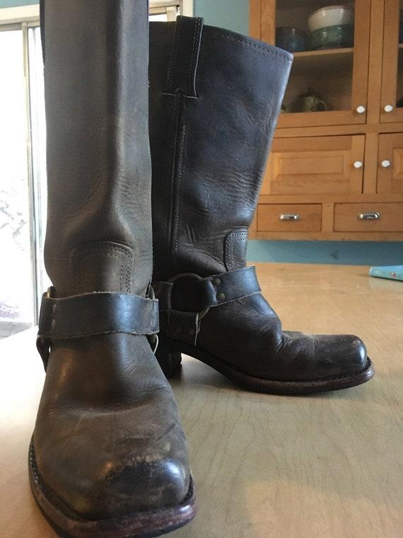 Fantastic Frye Brown Harness Boots Women S 7 Narrow Etsy