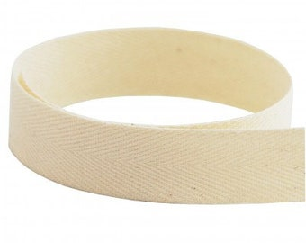 Natural Cotton Twill Tape 1 inch T115n