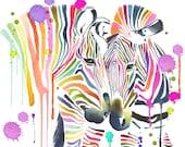 Hugging Zebras Limited Ed...