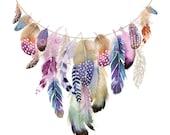 Boho Feather Garland Limi...