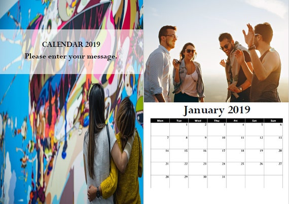 great gift A3 Bespoke 2019 Wall Calendar with your photos Oneida