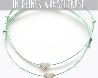Friend bracelet silver heart
