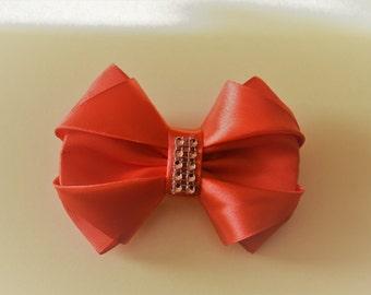 Hair bow barrette