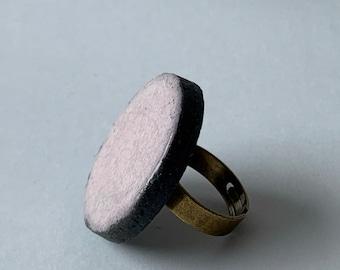 Ceramic ring - Pink ring - Purple ring - Raku ceramic ring - Raku ring - Pink jewellery -