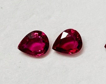 Reserved for Shellyo matched Ruby gemstones. Payment #7