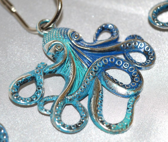 Octopus Shower Curtain Hooks Set Of 12 Optional Colors
