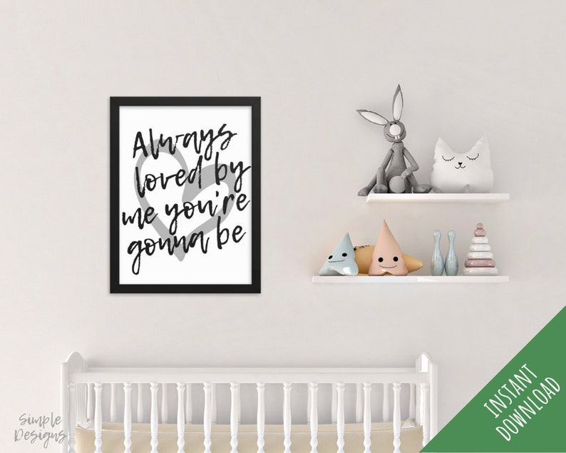 Nursery Art Printable, Simple Nursery Decor, Nursery Prints, Nursery Wall  Art, Kids Room Wall Decor, Children's Room Decor
