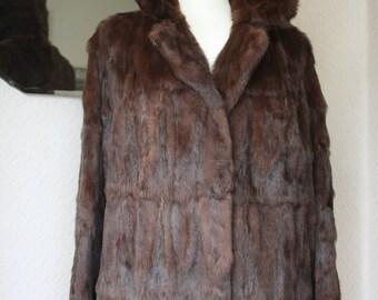 Vintage Real Fur Jacket Size 10-12