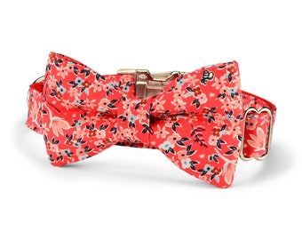 Garden Girl Bow Tie Dog Collar