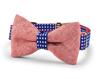 New! All American Bow Tie Dog Collar