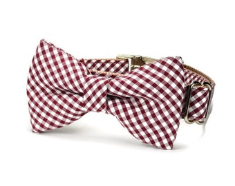 Texas Aggie Bow Tie Dog Collar