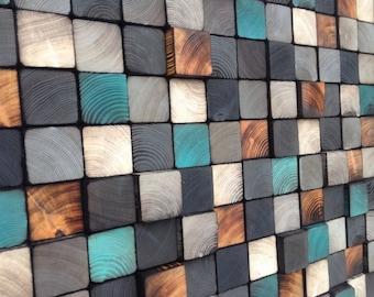 Wall Art - Reclaimed Wood Sculpture
