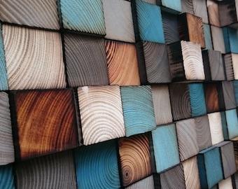 Wood Wall Art - Queen Headbord - Reclaimed Wood Art