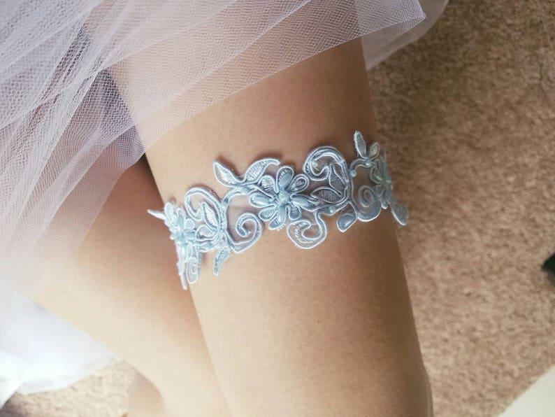 bridal blue garter set something blue garter Wedding garter,Pale blue lace wedding garter Style GB0008 white and blue wedding garter set