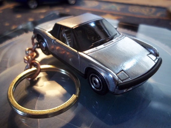 custom made stock keychain,1970 buick gsx coupe,gloss red wblack racing stripes-chrome grill-bumpers-mags-hand made chain-jump rings-mint
