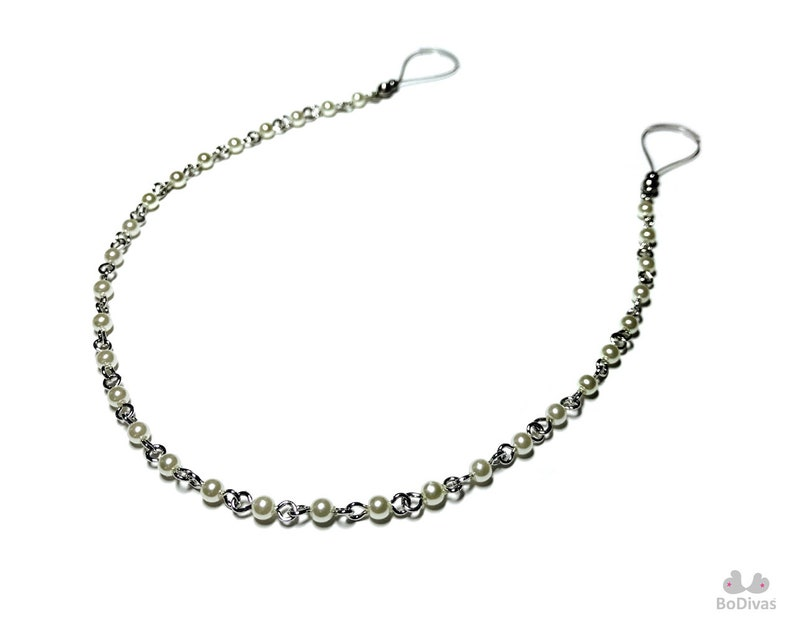Pearl Chain BoDivas Nipple Noose Collection Non Piercing Body Jewelry Rings