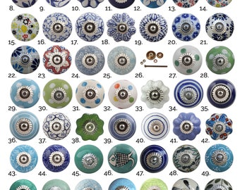 Charmant Blue Green Ceramic Cabinet Knobs   Furniture Door Knobs, Various Designs    China Drawer Pulls, Kitchen Cupboard Handles