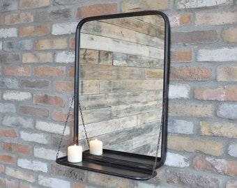 Mirror With Shelf Etsy