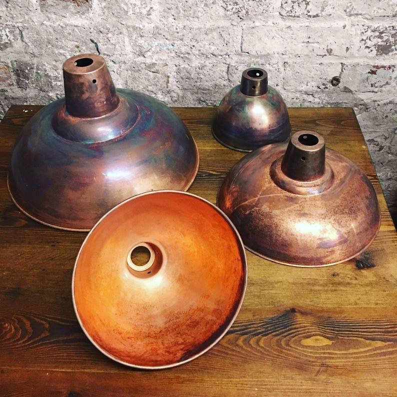 Old Fashioned Metal Lamp Shade: Retro Industrial Copper Lampshade Rustic Vintage Style