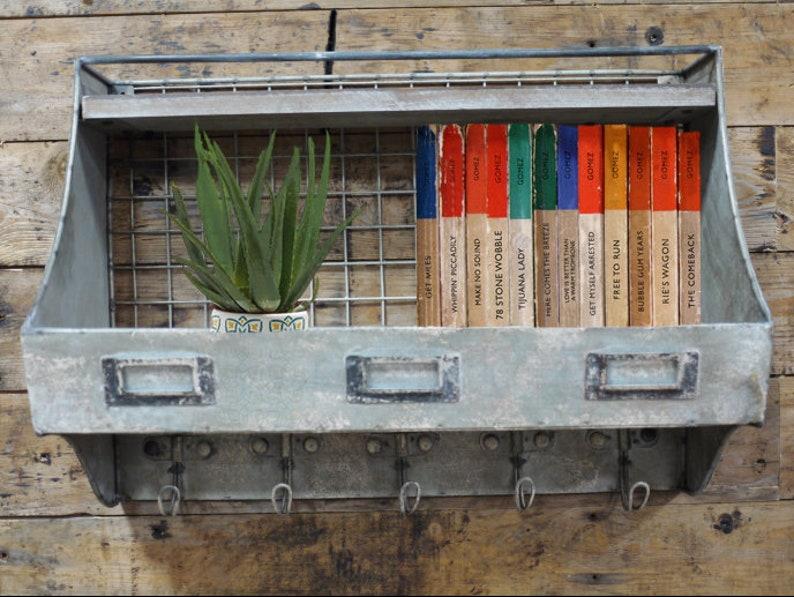 Galvanised Steel Wire Rack Shelf | Industrial Metal Shelving Unit | Wall  Hanging Peg Rack