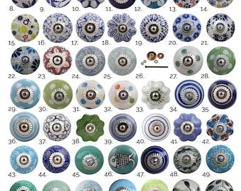 Blue Green Ceramic Cabinet Knobs | Furniture Door Knobs, Various Designs | China Drawer Pulls, Kitchen Cupboard Handles