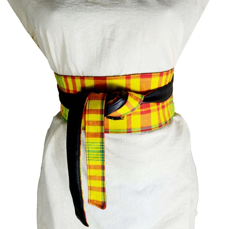 760be5180b9 Ceinture obi madras ceinture taille haute corset ceinture à