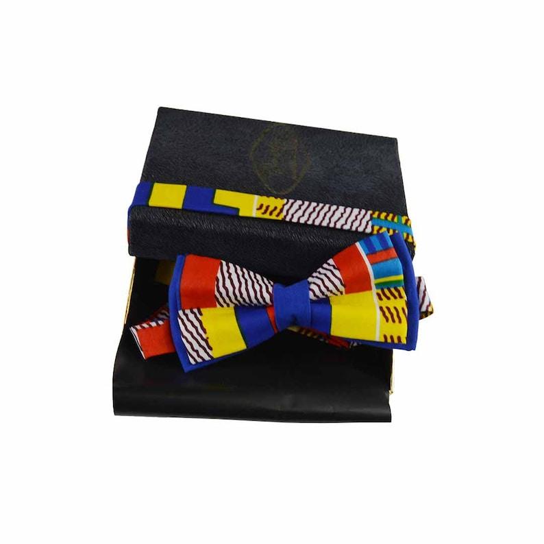 d6d65d7f20ff Kente pre-tied bow tie for men women suit accessory for | Etsy