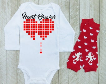 Baby Boys Valentines Day Outfit Boys Valentines Day Outfit Etsy