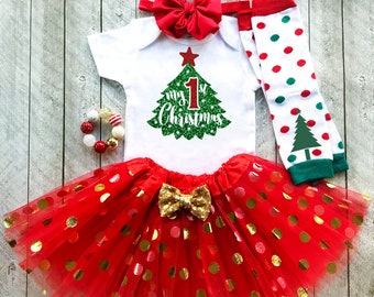 c73de40478ed Baby girl christmas outfit