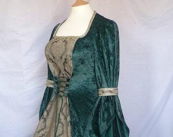 8c555c6b2c9bf Dark Green Medieval Dress, Renaissance Gown, Wedding Dress,Custom Made to  Size
