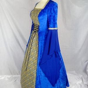 10 12 14 16 18 Medieval White Velvet Wedding Game of Thrones Gown Dress Costume