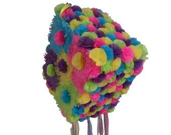 Colorful Flower Piñata. Wedding. Anniversary. Birthday.