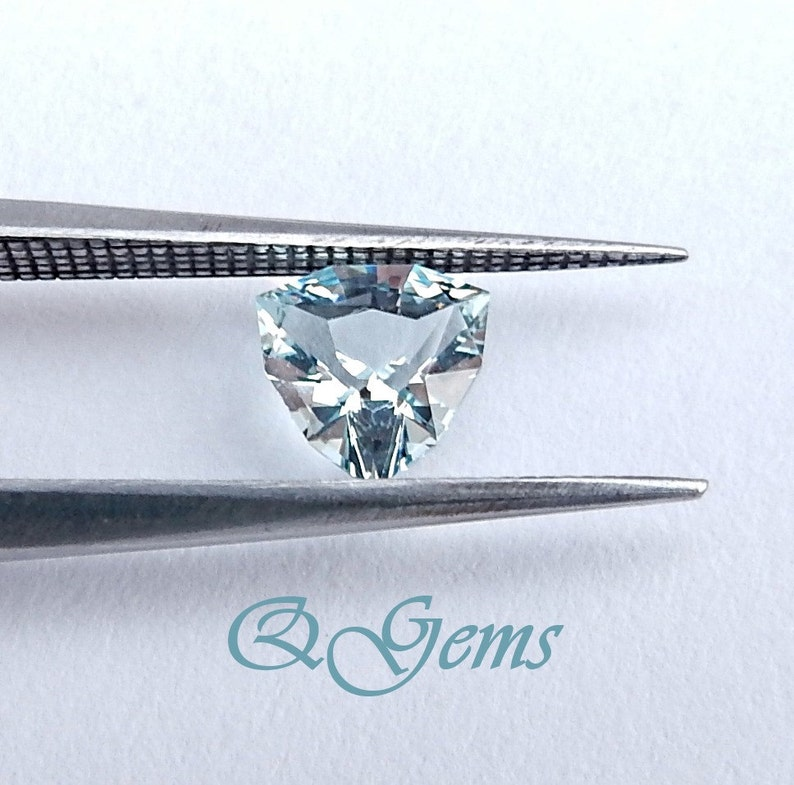 .60 ct Brilliant 5.8 mm Master Cut Trillion with Light Blue Color AQUAMARINE Clean Gemstone On Hold Perfect for a Ring  #Q04281116