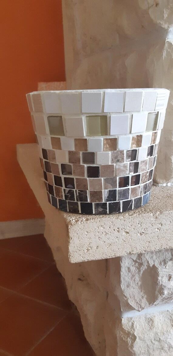 Mosaic Pot Indoor Decor Outdoor Pot Home Decor Planter Etsy