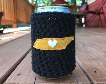 Nashville, Tennessee Crochet Beer Cozy, Coffee Cup Cozy, Coffee Sleeve, Bottle Cozy, Can Cozy