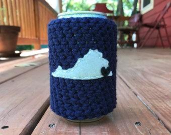 Norfolk, Virginia Beer Cozy, Coffee Cup Cozy, Reusable Coffee Sleeve, Can Cozy, Bottle Cozy