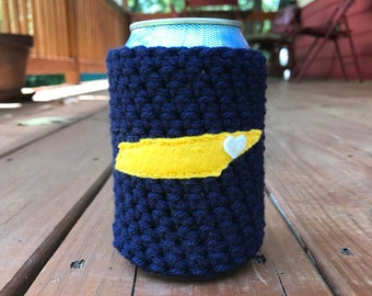 Johnson City, Tennessee Crochet Beer Cozy, Coffee Cup Cozy, Coffee Sleeve, Bottle Cozy, Can Cozy