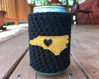 Winston-Salem, North Carolina Crochet Beer Cozy, Coffee Cup Cozy, Coffee Sleeve by Maroozi