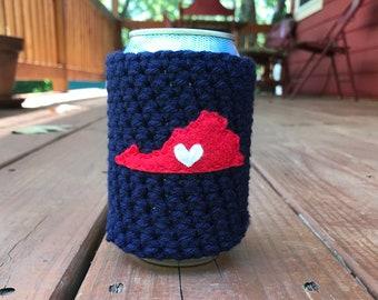 Lynchburg, Virginia Beer Cozy, Coffee Cup Cozy, Reusable Coffee Sleeve, Can Cozy, Bottle Cozy