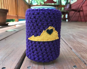 Harrisonburg, Virginia Beer Cozy, Coffee Cup Cozy, Reusable Coffee Sleeve, Can Cozy, Bottle Cozy