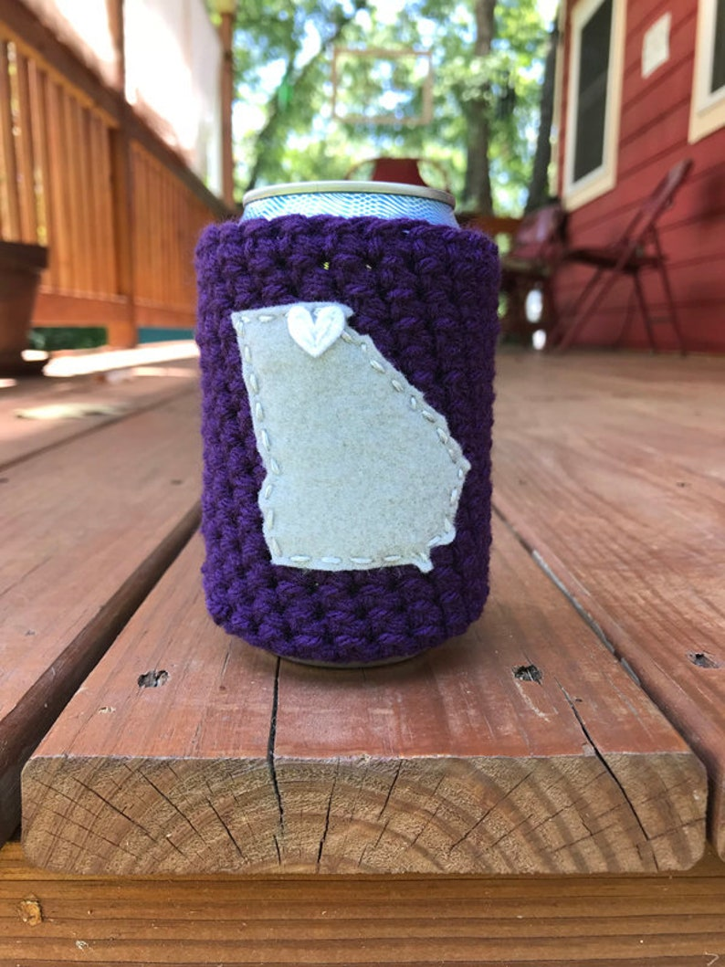 Map Of Young Harris Georgia.Young Harris Georgia Crochet Beer Cozy Coffee Cup Cozy Etsy