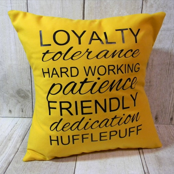 Hufflepuff pillow | Etsy