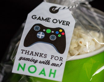 Video Game Favor Tags With Black Controller