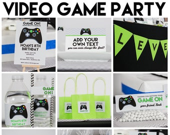 Video Game Party Etsy